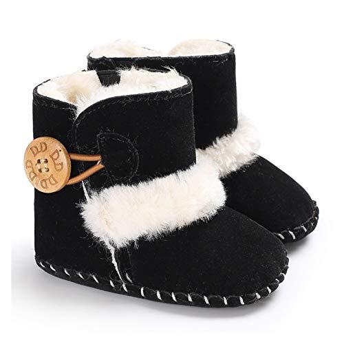 Youpin Baby First Walkers - Botines unisex de forro polar sintético para recién nacido, cálidos, para invierno, para cuna, zapatos clásicos (edad del bebé: 13 años 18 meses, color: G3)