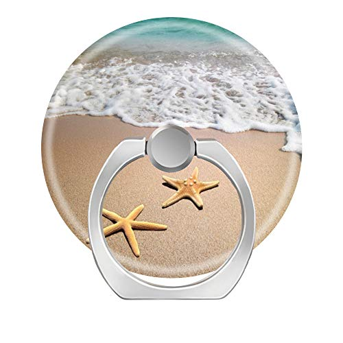 LoveStand-Soporte de anillo para teléfono celular de 360 grados para teléfono móvil, tableta y coche, olas de playa y pez estrella