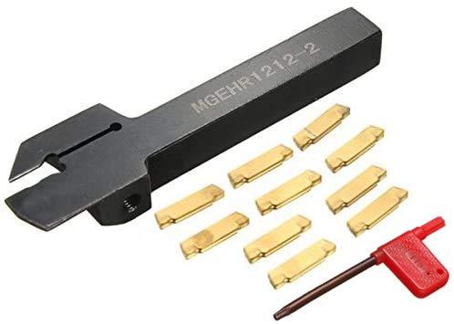 Mgehr 1212-2 - Herramientas de torno de metal para ranura con soporte para barra perforadora para torno y puntas MGMN200-G