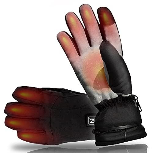 AROMA SEASON® | Beheizbare Handschuhe mit Akku | Warme beheizte Hände den ganzen Tag beim Skifahren, Snowboarden, Wandern, Angeln | hohe Heiz- und Akkuleistung | hochwertige Verarbeitung (L/XL)