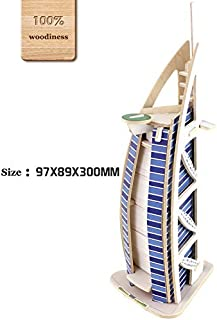 O-Aesir 3D DIY Wooden Puzzles BurjAl-Arab Hotel Model Toy and Hobby for Kids