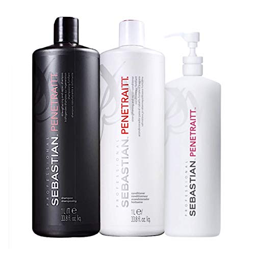 Kit Sebastian Professional Penetraitt - Shampoo 1000ml + Condicionador 1000ml + Máscara 500ml