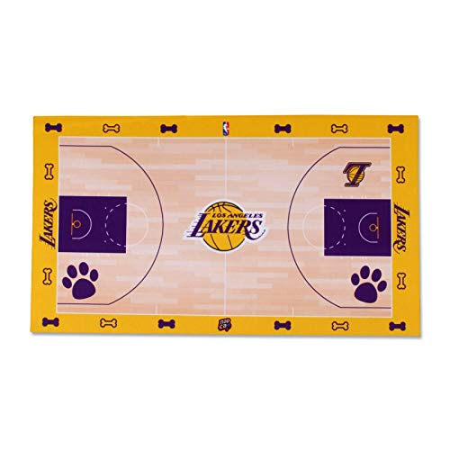 NAP CAP Los Angeles Lakers Food Court Mat - Coated Poly Twill
