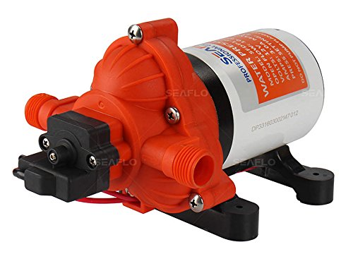 Seaflo 12V 3.0 GPM 45 PSI Water Diaphragm Pressure Pump - 4 Year...