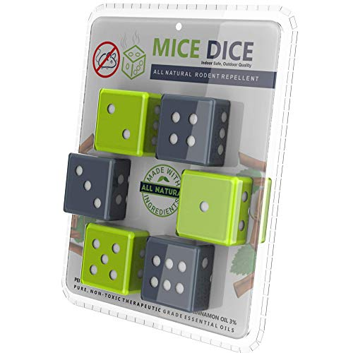 Peppermint Oilto RepelMiceDice -MiceRepellent ReplacesMousePoisonfor Home and Outdoor - 6 Pack