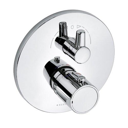 Kludi Fertigmontageset für Unterputz-Wannen und Brause Thermostat mit Heisswassersperr, verchromt, 388300545
