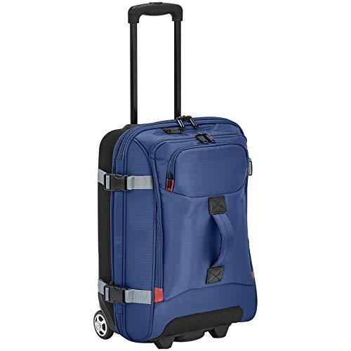 Amazon Basics - Kleine Reisetasche mit Rollen, Blau
