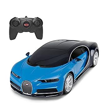 RASTAR Bugatti Veyron Chiron RC Car 1 24 Scale Remote Control Toy Car Bugatti Chiron R/C Model Vehicle for Kids - Blue