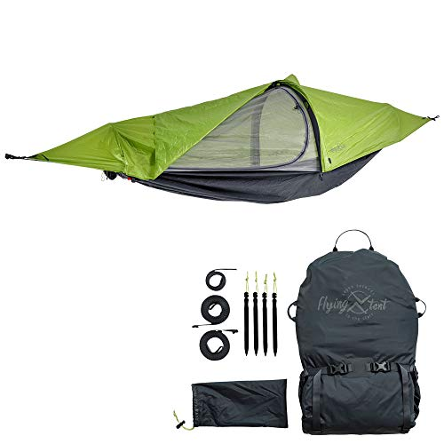 flying tent: Unique All-in-ONE Hammock Tent, Bivy Tent, Hammock and Rain Poncho + Fine Mesh Mosquito...