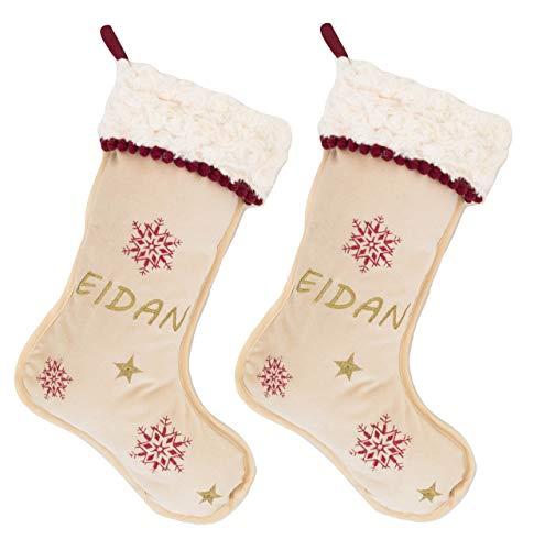 Media o Bota de Navidad Personalizado con el Nombre. Modelo Premium. (Pack 2 Calcetines)