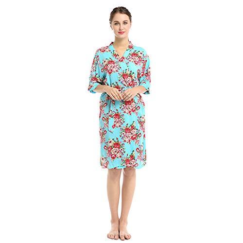 Ropa De Dormir Mujer Sexy Pijama Estampado De AlgodóN Camisones Y Camisetas De Dormir Bata De BañO Sexy Y CóModa Batas,H-M:Bust:122CM
