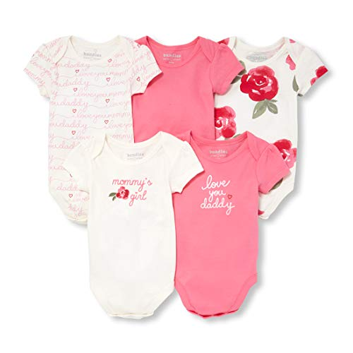 The Children's Place Baby Girls 5 Pack Novelty Printed Layette Set, Zinnia Pink, UPTO7LBS