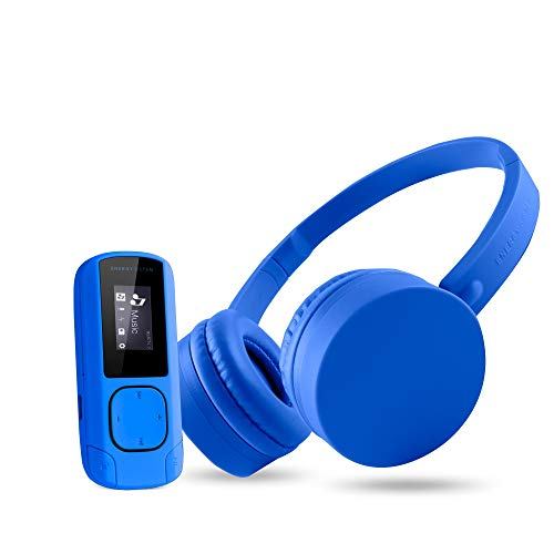 Energy Sistem Music Pack - Reproductor MP3 (Reproductor de MP3, 8 GB, LCD, Radio FM, Auriculares Incluidos), Color Azul