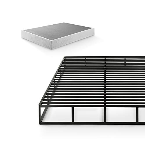 Zinus 9 Inch Quick Lock High Profile Smart Box Spring / Mattress Foundation / Strong Steel Structure / Easy Assembly, Queen