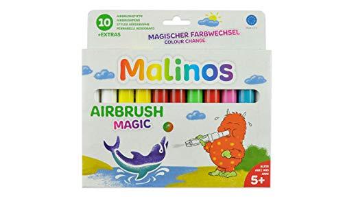 Airbrush Magic 10-delig incl. 4 sjablonen, paardenstigen, creativiteit, stiften voor impregneringen.