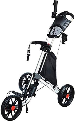 JWCN 3-Rad-Klapp-Golfwagen für ultimative Beweglichkeit Eine Sekunde zum Öffnen und Schließen des Klappwagens Klappwagen Uptodate