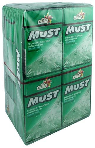 Elite Must Sugar free gum Spearmint Flavor 16 Pack  Aspartame Free