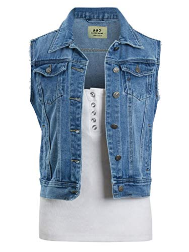 SS7 Womens Stonewash Denim Gilet