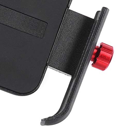 Okuyonic Soporte Fijo para teléfono de Scooter eléctrico Abrazadera de Montaje para teléfono de Motocicleta Ciclismo y Senderismo para teléfonos móviles de 4,7~7 Pulgadas(Black Red)