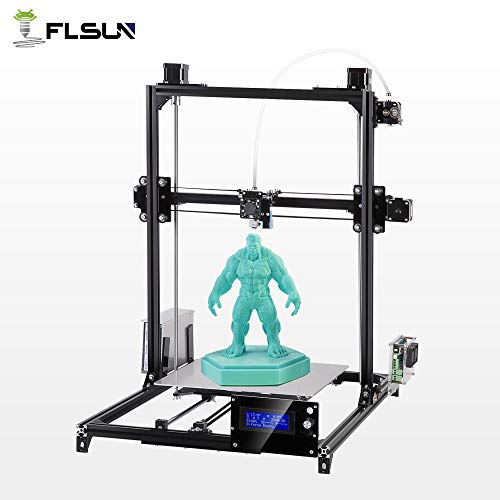 Flsun Large Size I3 3D Printer with Auto-Leveling System Large Printing Size 300x300x420mm reprap DIY kit,Heated Bed,Metal Frame,high precition, a roll pla Filament Gift US Stock