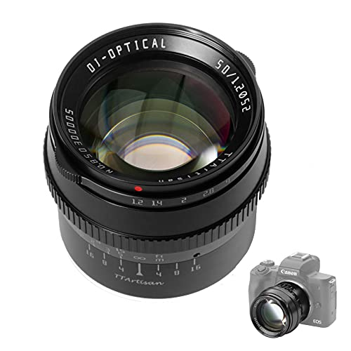 TTArtisan Lente de 50 mm F1.2 APS-C Cámaras Lente MF Compatible con cámaras Nikon Z Z50 (Compatible con Nikon Z)