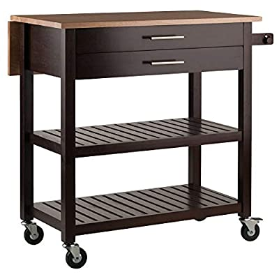 Winsome Langdon Cart Kitchen, Cappuccino/Natural from Winsome Wood