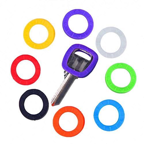 YCEOT Sleutelhanger Mode 8 Stks Holle Milieubescherming Multi Kleur Rubber Zachte Sleutelvergrendelingen Sleutels Cap Sleutelhoezen Topper Sleutelhanger