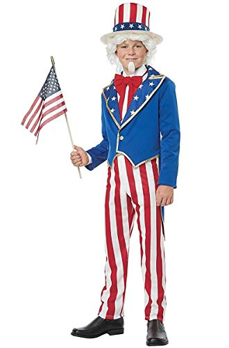 California Costumes Boys Uncle Sam Child Costume, Red/Blue/White, Large