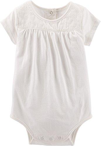 OshKosh BGosh Body pod ogrodniczki niemowlęce gracze lato bluzka koszulka dla dziewczynek (0-24 miesięcy) (24 miesięcy, biała)