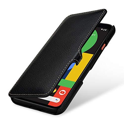 StilGut Hülle kompatibel mit Google Pixel 4 Tasche aus Leder, Book Type, schwarz mit Clip
