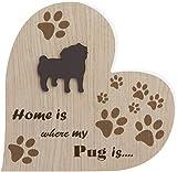 Placa de madera Pug