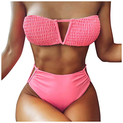 LANSKIRT Traje de Baño Mujer 2020 Bikinis Mujer Ropa de Playa Arcón Envuelto Trikini Biquini Vikinis Estampadas Flores Trikini Biquini Cintura Alta Ropa de Verano Bohemios