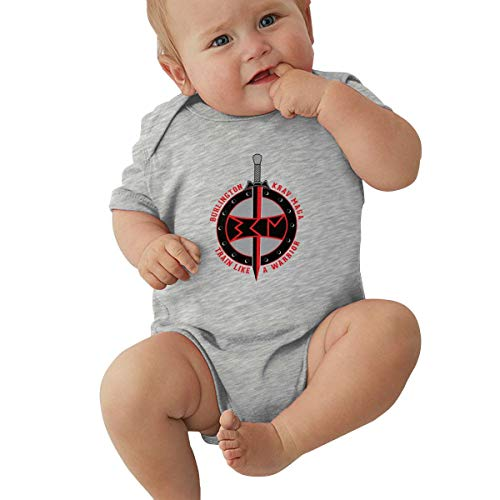 Burlington Krav MAGA Logo Summer New Boy and Girl Universal Baby Jersey Jumpsuit Tights Gray