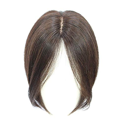 Curtain Bangs 2020,Hair Bangs Mid Part Fringe Hair Pieces,Straight Remy Hair Toupees Toppers,No Trace Invisible Reissue Hair (Black)