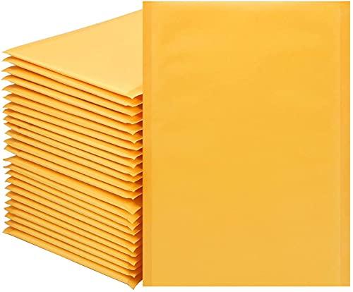 000#4x7 pulgadas Kraft Bubble Mailers sobres amarillo burbuja sobres envío sobres bolsas paquete de 50 (4x7)