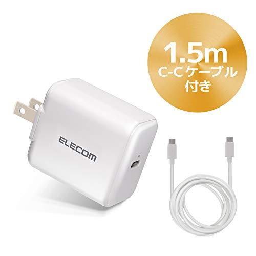 エレコム USB 充電器 ACアダプター コンセント [ スマホ/タブレット 対応 ] usb type c ×1ポート PD対応 18...