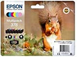 Epson C13T37884020 - Confezione multipla di cartucce originali a getto d'inchiostro, confezione multipla (nero, giallo, magenta, ciano) (confezione da 6)