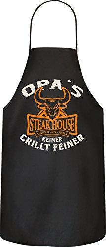 RAHMENLOS Original BBQ Grillschürze für den Großvater: Opa\'s Steakhouse. Nr.: 2995