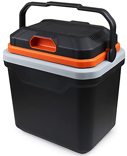 AooDen Electric Car cooler and Warmer, 26 Quart Capacity, Thermoelectric Iceless Cooler for Travel,...