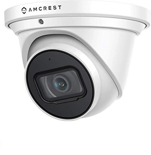 Amcrest UltraHD 4K (8MP) IP-Revolver-PoE-Kamera für den Außenbereich, 3840 x 2160, 98 Fuß NightVision, 2,8-mm-Objektiv, IP67 wetterfest, MicroSD-Aufnahme (256 GB), Weiß (IP8M-T2599EW)
