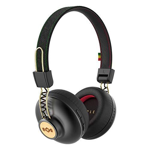 House of Marley Positive Vibration 2 BT Kabellose Bluetooth On-Ear Kopfhörer, Geräuschisolierung, nachhaltige Materialien, recycelbare Verpackung, unterstützt One Tree Global Wiederaufforstung
