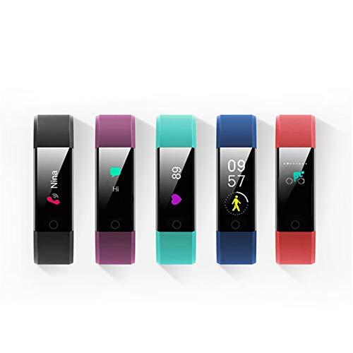 Szaerfa Pulsera frecuencia cardíaca, presión Arterial, Banda Inteligente, rastreador de Ejercicios, Pulsera Inteligente con Bluetooth para Reloj Inteligente Fitbits (Azul)