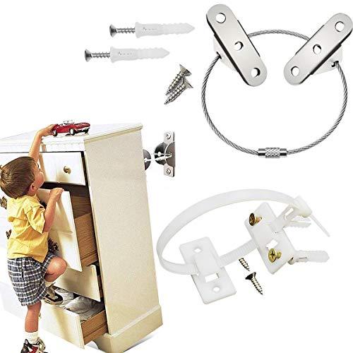 Dancepandas Baby Möbel Kippsicherung 18PCS Kippschutz Möbel Möbelgurt Anti Tip Strap Furniture Straps für Baby-Proofing & Haustierschutz