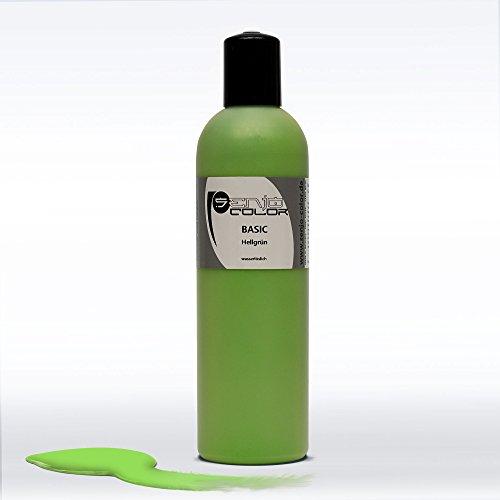 Senjo Color Basic Bodypainting Colour I Maquillage du visage et du corps I cosmétiques, testé dermatologiquement I couleur festival I 250 ml I vert cl