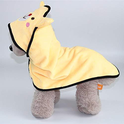 JUN-H Haustierhandtuch schnell trocknendes Hund Bademantel Haustier Mikrofaser Handtuch Pet Coat mit für kleine Hunde/Katzen Badehandtuch 45 * 45cm