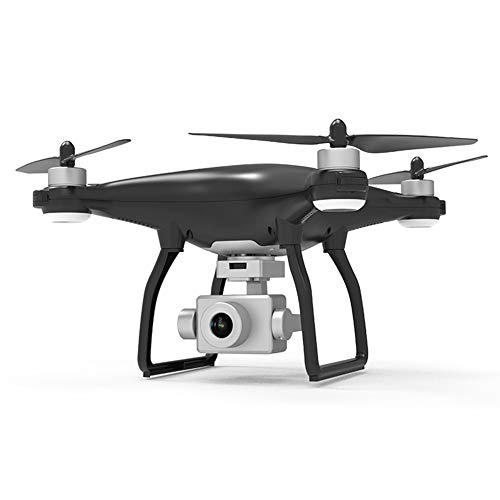 LYHLYH Drone GPS avec caméra HD 4K, Avions Trois Axes sans Balai de la Photographie aérienne Cardan Quatre Axes Auto Retour Accueil Suivez-Moi 26 Minutes Temps de vol