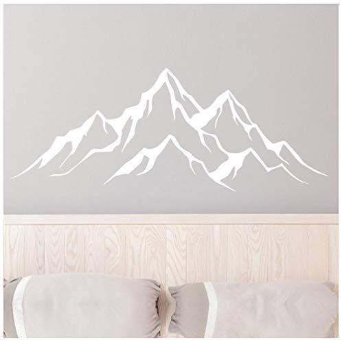 Adesivi murali montagna biancaDesign staccabile e vivido Adesivo art deco per finestre da parete per casa fai-da-te adatto per camera da letto per