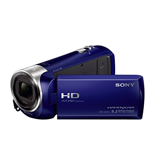 SONY HDRCX240 L Video Camera with 2.7-Inch LCD - Blue (Renewed)