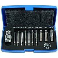 Laser Herramientas 6845Dañado Cap Cabeza Perno/Extractor de Tornillos, Conjunto de 11