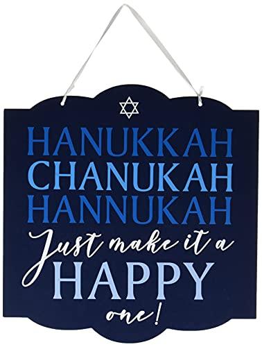 Hanukkah Blue Door Sign 12' x 11.75' - 1 Pc.